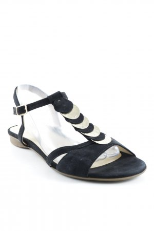 Gabor T-Strap Sandals black-gold-colored casual look
