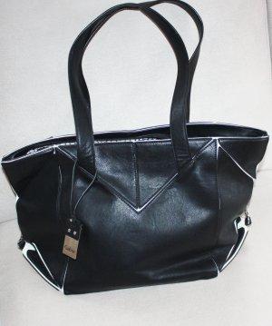 Gabor Tasche Damentasche schwarz/weiss echter Hingucker top Zustand