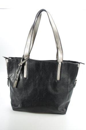 Gabor Tote schwarz-silberfarben klassischer Stil