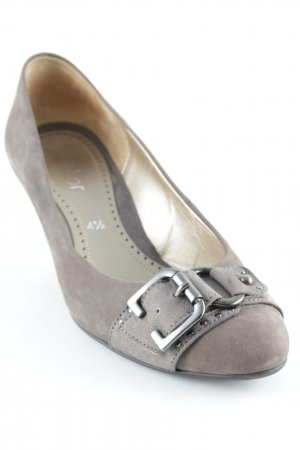 Gabor Loafers light brown-silver-colored classic style