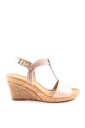 Gabor Wedges Sandaletten nude-goldfarben Casual-Look