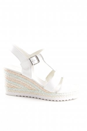 Gabor Wedges Sandaletten weiß Elegant