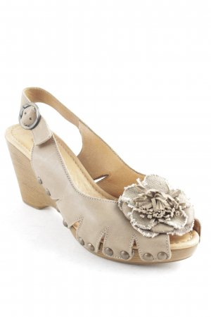Gabor Wedges Sandaletten beige Street-Fashion-Look