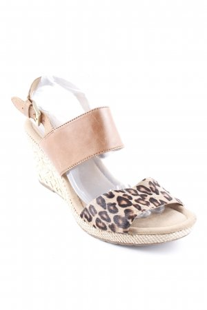 Gabor Wedges Sandaletten braun Animalmuster Animal-Look