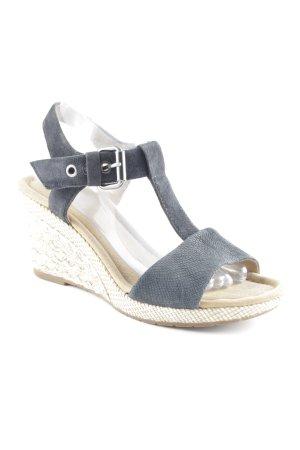 Gabor Wedges Sandaletten dunkelblau-sandbraun Boho-Look