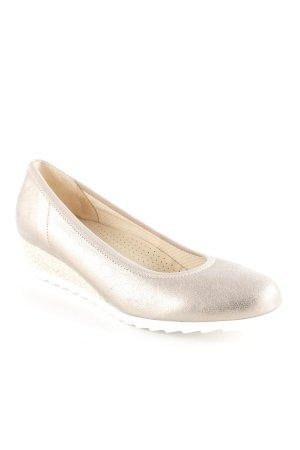 Gabor Wedges Sandaletten roségoldfarben-weiß Glanz-Optik