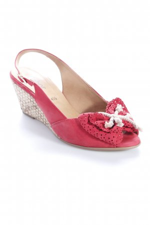 Gabor Wedges Sandaletten rot Casual-Look