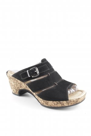 Gabor Wedge Sandals black casual look