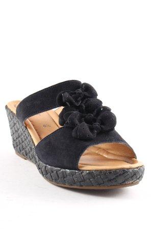 Gabor Wedges Sandaletten schwarz Romantik-Look