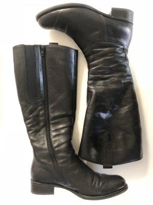 Gabor Weitschaftstiefel L in schwarzem Leder Größe 36