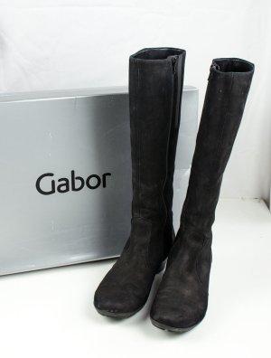Gabor Jackboots black suede