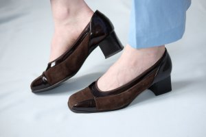 Gabor Loafer marrone-nero Pelle