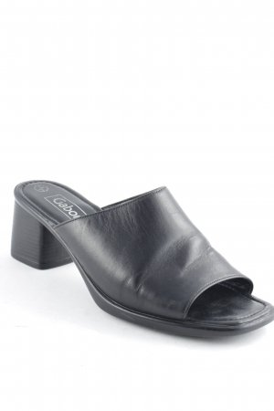Gabor High-Heeled Toe-Post Sandals black minimalist style