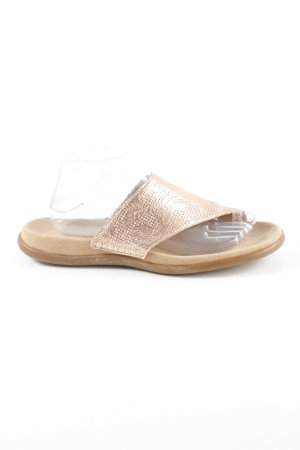Gabor Toe-Post sandals rose-gold-coloured wet-look