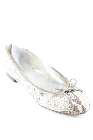 Gabriele Ballerines à lacets beige clair-gris brun motif animal élégant