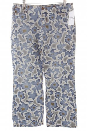 Gabriele Strehle Jeans 7/8 Jeans Blumenmuster Casual-Look