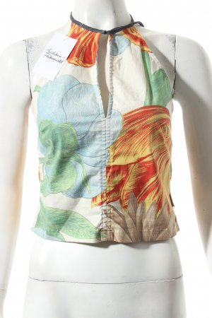 Gabriele Strehle Jeans Neckholdertop florales Muster Beach-Look
