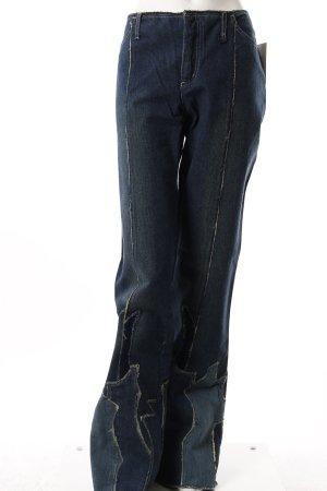 Gabriele Strehle Jeans-Schlaghose Flicken-Verzierung