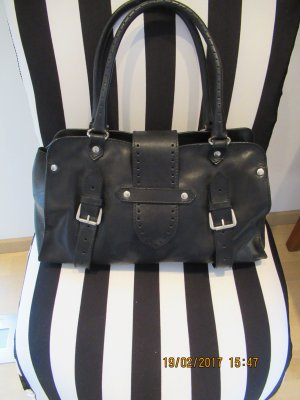 Gabriele Strehle Jeans Carry Bag black leather