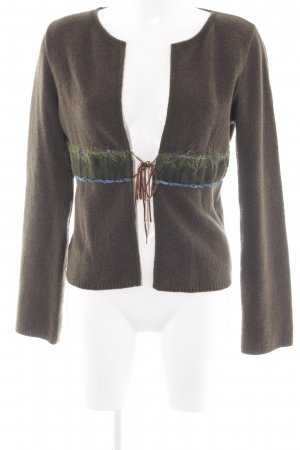 Gabriella Frattini Cardigan khaki casual look