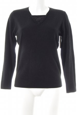 Gabriella K. Long Sweater black simple style