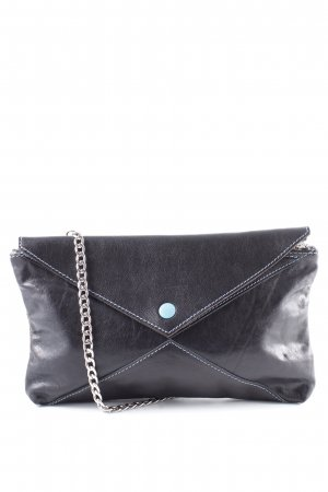 Gabs Borsa clutch blu scuro-marrone stile casual