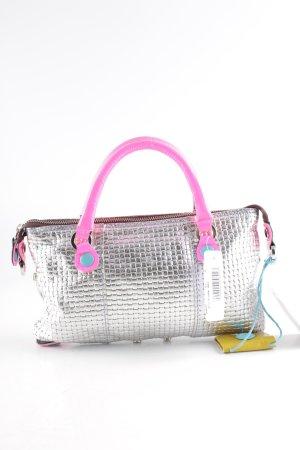 Gabs Handtasche silberfarben-neonpink extravaganter Stil