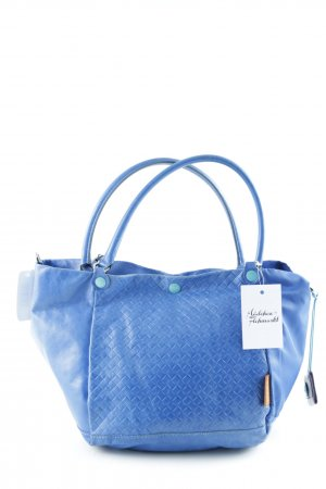Gabs Carry Bag blue-turquoise check pattern material mix look
