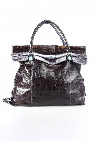 Gabs Carry Bag turquoise-black brown animal pattern classic style