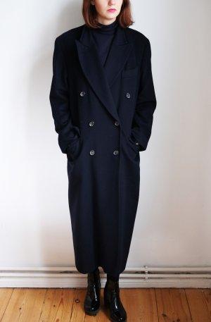 Gaddis Cappotto in lana blu scuro Cachemire