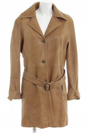 Gaddis Leather Coat bronze-colored classic style
