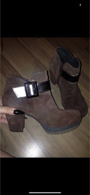 Gadea Platform Boots dark brown