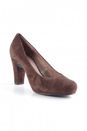 Gadea Mary Jane Pumps dunkelbraun-schwarzbraun Business-Look