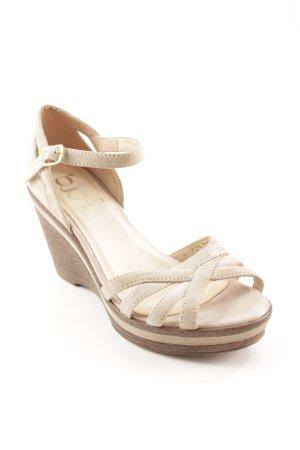 Gadea Plateau-Sandaletten beige-hellbraun klassischer Stil