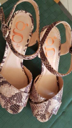 Gadea Platform High-Heeled Sandal beige