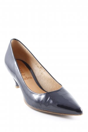 Gadea Spitz-Pumps dunkelblau Lack-Optik