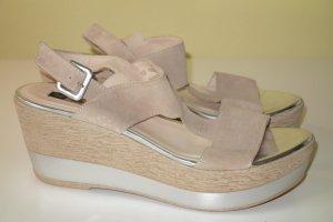 GADEA Wedge Sandaletten in beige Gr.40 NEU