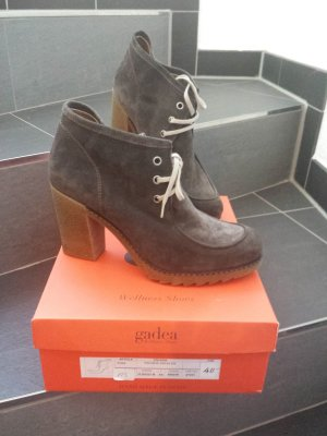 Lace-up Boots grey brown-light brown leather