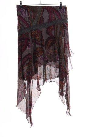Gaetanonavarra Silk Skirt abstract pattern casual look