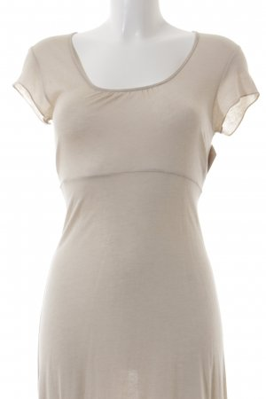 Gaia Robe t-shirt crème style simple