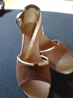 Gaimo Espadrilles High-Heeled Sandals light brown-gold-colored