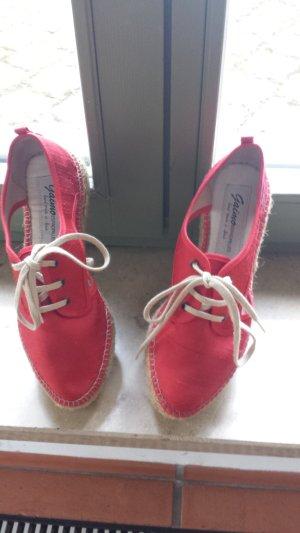 Gaimo Espadrilles Espadrille sandalen rood-zandig bruin