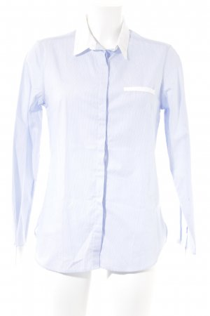 Galeries lafayette Langarmhemd himmelblau-weiß Streifenmuster Business-Look