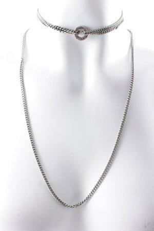 Galis Chaîne à maillons argenté style minimaliste
