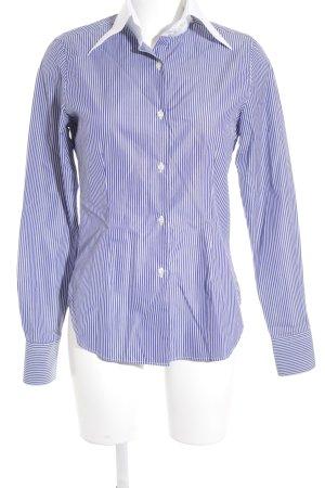Galizia Trendy Langarmhemd stahlblau-weiß Streifenmuster Casual-Look