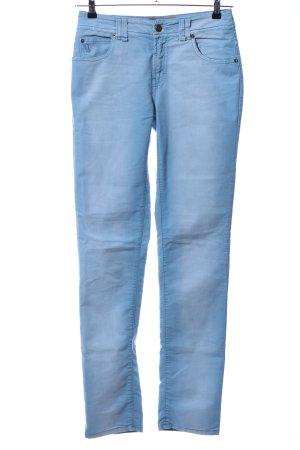 Galliano Pantalon cinq poches bleu style décontracté