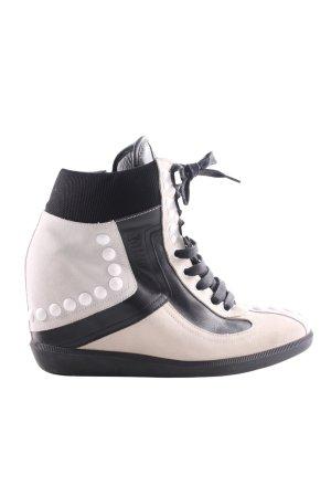 Galliano High Top Sneaker creme-schwarz extravaganter Stil