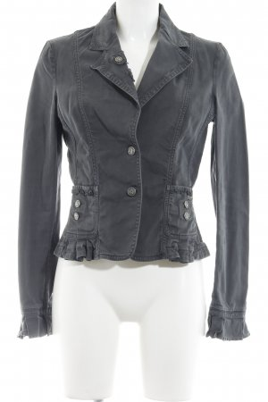 Galliano Jeansblazer grau Casual-Look