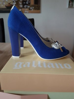 Galliano Peeptoe Pumps High Heels Größe 36 Blau NEU OVP