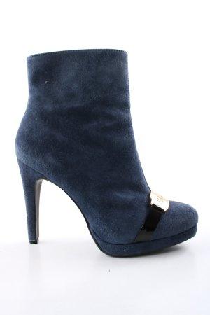 Galliano Platform Booties blue elegant